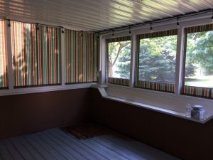 Roll up Porch curtains Interior