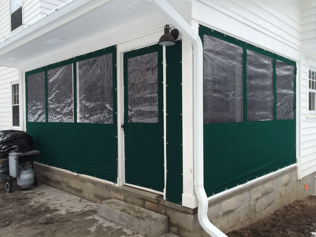Roll-Up Porch Curtains - G&J Awnings & Canvas