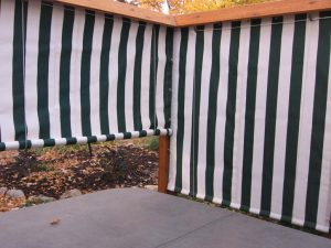 Porch curtains for cabins