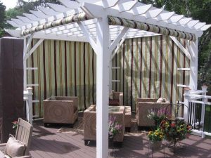 Pergola Canvas Roll up curtains