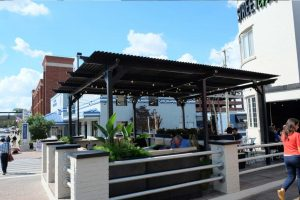 Outdoor Seating Pergola system