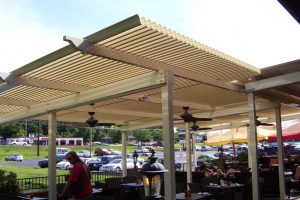 Outdoor Seating Pergola system