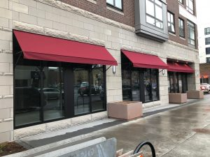 Open Ended Fabric Awning