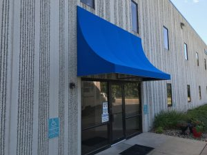 Concave Fabric Awning